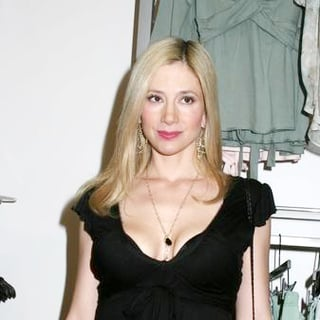 Mira Sorvino in Destination Maternity Flagship Store Grand Opening on Madison Avenue