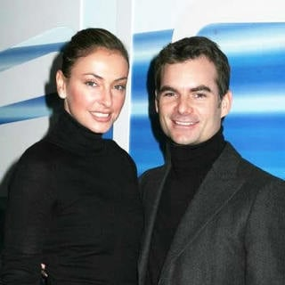 Ingrid Vandebosch, Jeff Gordon in Olympus Fashion Week Fall 2006 - Oscar de la Renta Backstage