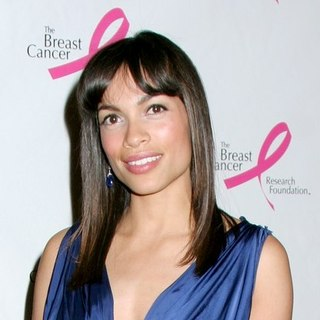 Rosario Dawson in The Breast Cancer Research Foundation's Hot Pink Party Goes Cool - with Sheryl Crow and Elton John