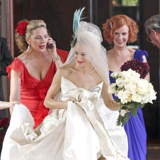 Kim Cattrall, Sarah Jessica Parker, Cynthia Nixon in Sex and the City: The Movie - Filming On Location - October 2, 2007