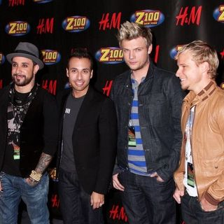Backstreet Boys in Z100 Jingle Ball 2007 - Press Room