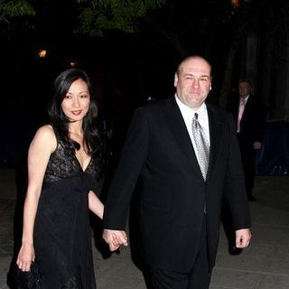 James Gandolfini, Deborah Lin in 7th Annual Tribeca Film Festival - Vanity Fair Party - Arrivals
