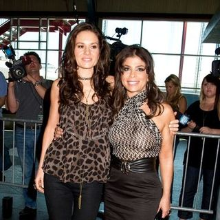 Paula Abdul, Kara DioGuardi in American Idol Introduces Their New Fourth Judge Kara DioGuardi at American Idol NYC Tryouts