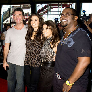 Kara DioGuardi, Simon Cowell, Paula Abdul, Randy Jackson in American Idol Introduces Their New Fourth Judge Kara DioGuardi at American Idol NYC Tryouts