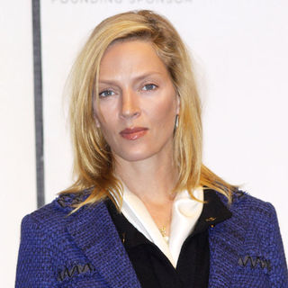 Uma Thurman in 8th Annual Tribeca Film Festival - Opening Day Press Conference - Arrivals