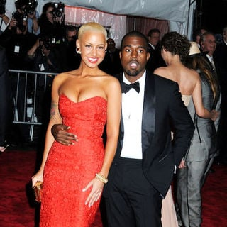 "Kanye West, Amber Rose in ""The Model as Muse: Embodying Fashion"" Costume Institute Gala at The Metropolitan Museum of Art"