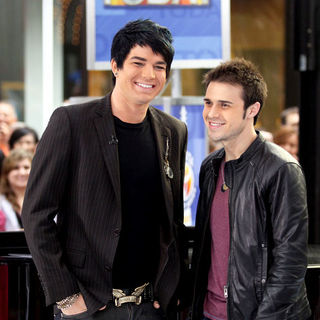 "Adam Lambert, Kris Allen in 2009 American Idol Winner and Runnerup in Concert on NBC's ""Today Show"" - May 28, 2009"