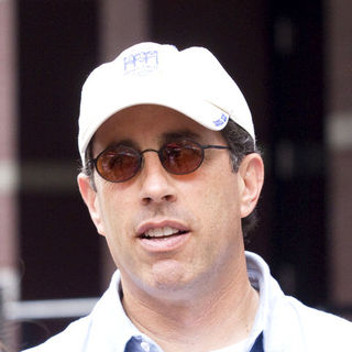 "Jerry Seinfeld in ""The Backup Plan"" Filming on Location on the Upper East Side of New York on July 17, 2009"