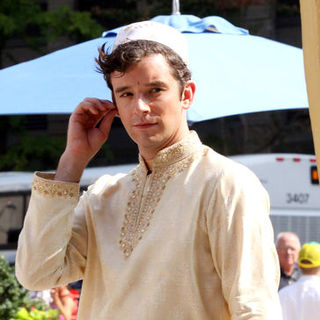 "Michael Urie in ""Ugly Betty"" Filming in Lower Manhattan on August 25, 2009"