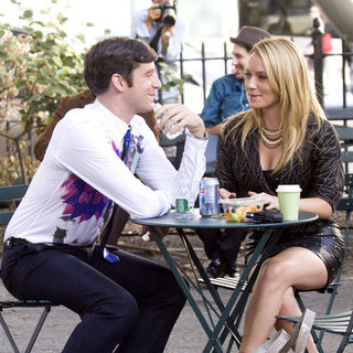 "Becki Newton, Michael Urie in ""Ugly Betty"" Filming in Greenwich Village in New York on September 3, 2009"