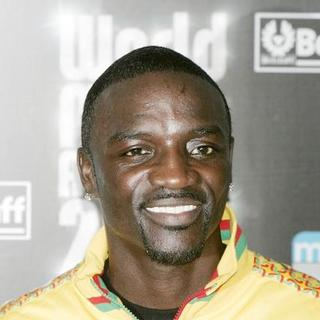 Akon in 2007 World Music Awards - Arrivals