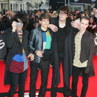 Klaxons in The Brit Awards 2008 - Red Carpet Arrivals - LMK-002926