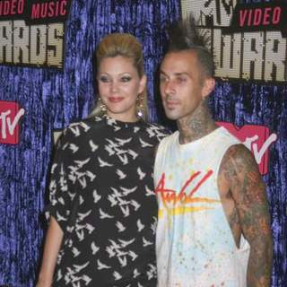 Travis Barker, Shanna Moakler in 2007 MTV Video Music Awards - Red Carpet