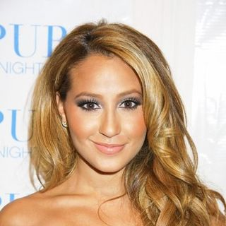 Adrienne Bailon in Khloe Kardashian's 24th Birthday Celebration Arrivals at Pure Nightclub in Las Vegas