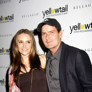Charlie Sheen, Brooke Mueller in Yellowtail Sushi Restaurant and Bar Grand Opening Celebration - Arrivals