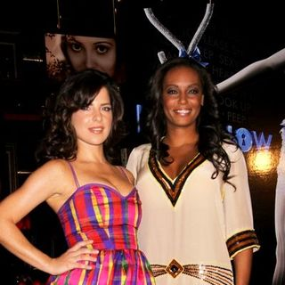 "Melanie Brown, Kelly Monaco in ""Peepshow"" at Strip House at Planet Hollywood Las Vegas - Press Conference"