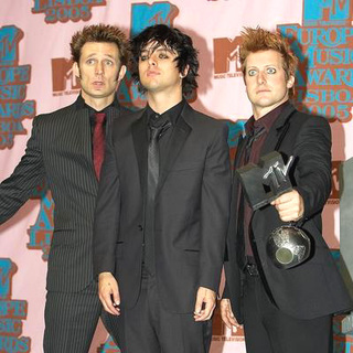 Green Day in 2005 MTV European Music Awards Lisbon - Press Room