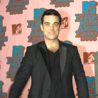 Robbie Williams in 2005 MTV European Music Awards Lisbon - Press Room