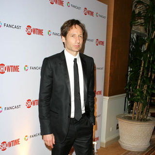 David Duchovny in 66th Annual Golden Globes - Showtime After Party - Arrivals