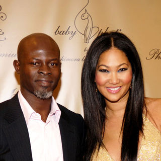 Djimon Hounsou, Kimora Lee Simmons in Mercedes-Benz Fashion Week Spring 2009 - Baby Phat After Party - Arrivals