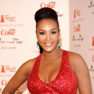 Vivica A. Fox in Mercedes-Benz Fashion Week Fall 2009 - Heart Truth's Red Dress Collection Fashion Show