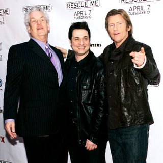 "Lenny Clarke, Denis Leary, Adam Ferrara in ""Rescue Me"" Season 5 New York City Premiere - Arrivals"