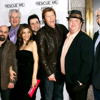 "Mike Lombardi, Denis Leary, Jim Serpico, Lenny Clarke, Callie Thorne, Adam Ferrara, John Scurti, Peter Tolan in ""Rescue Me"" Season 5 New York City Premiere - Arrivals"