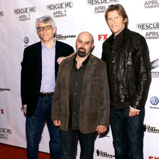 "Peter Tolan, Jim Serpico, Denis Leary in ""Rescue Me"" Season 5 New York City Premiere - Arrivals"