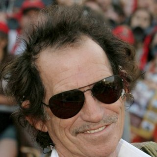 Keith Richards in Pirates of the Caribbean: At World's End World Premiere