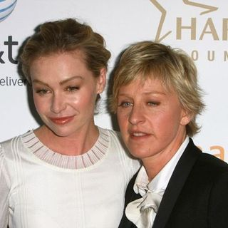 Ellen DeGeneres, Portia de Rossi in 19th Annual GLAAD Media Awards - Red Carpet