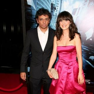 "Zooey Deschanel, M. Night Shyamalan in ""The Happening"" New York City Premiere - Arrivals"