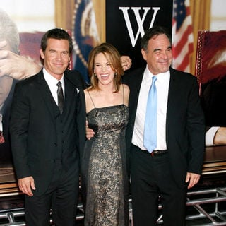 "Josh Brolin, Diane Lane, Oliver Stone in ""W."" New York City Premiere - Arrivals"