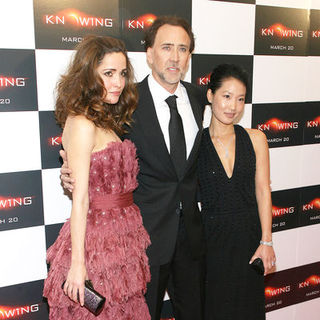 "Nicolas Cage, Rose Byrne, Alice Kim in ""Knowing"" New York Premiere - Arrivals"