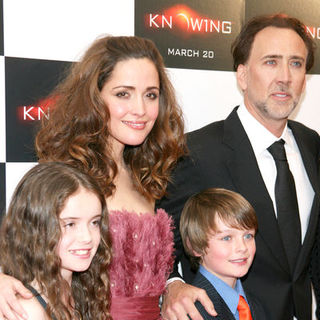 "Nicolas Cage, Rose Byrne, Lara Robinson, Chandler Canterbury in ""Knowing"" New York Premiere - Arrivals"