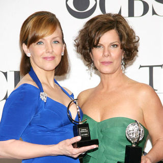 Alice Ripley, Marcia Gay Harden in 63rd Annual Tony Awards - Press Room