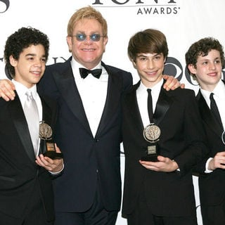 David Alvarez, Kiril Kulish, Trent Kowalik, Elton John in 63rd Annual Tony Awards - Press Room
