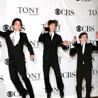 David Alvarez, Kiril Kulish, Trent Kowalik in 63rd Annual Tony Awards - Press Room