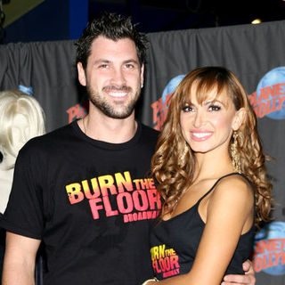 "Maksim Chmerkovskiy, Karina Smirnoff in Karina Smirnoff and Maksim Chmerkovskiy Footprint Ceremony to Promote ""Burn the Floor"""