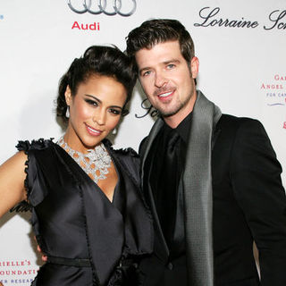 Robin Thicke, Paula Patton in 2009 Angel Ball to Benefit Gabrielle's Angel Foundation for Cancer Research - Arrivals