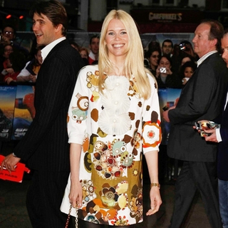 Claudia Schiffer in Spider-Man 3 London Premiere - Red Carpet