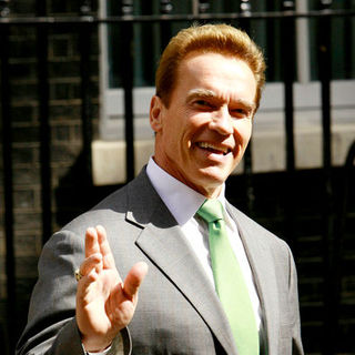 Arnold Schwarzenegger in Arnold Schwarzenegger and Tony Blair Meet To Discuss Climate Change