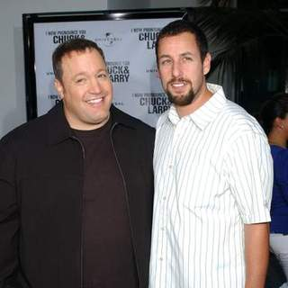 Adam Sandler, Kevin James in I Now Pronounce You Chuck And Larry World Premiere presented by Universal Pictures