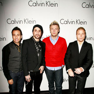 Backstreet Boys in Martin Creed and Calvin Klein Spring/Summer 08 - Party Arrivals