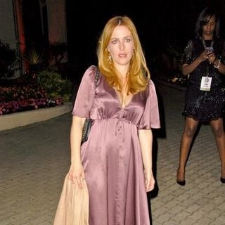 "Gillian Anderson in 2008 Cannes Film Festival - Akvinta GQ Party for ""How to Loose Friends and Alienate People"" Premiere"