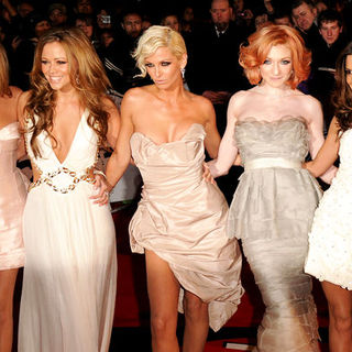 Girls Aloud in The Brit Awards 2009 - Arrivals