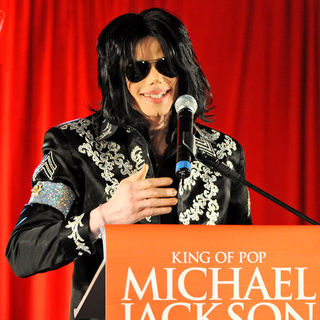 "Michael Jackson in King of Pop Michael Jackson ""This Is It!"" 10 Show Concert Tour Press Conference"
