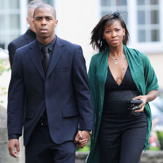 Jamelia, Darren Byfield in Jade Goody's Funeral at St. John The Baptist Church in Waltham Abbey on April 4, 2009