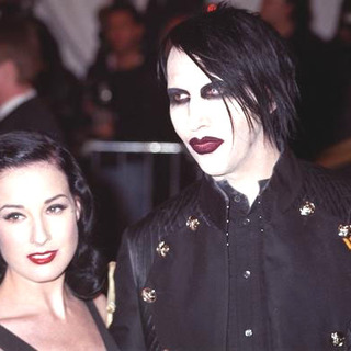 Marilyn Manson, Dita Von Teese in Chanel Costume Institute Gala at The Metropolitan Museum of Art