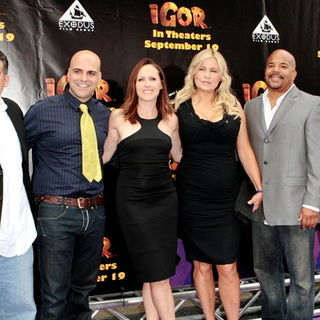 "John Eraklis, Anthony Leondis, Molly Shannon, Jennifer Coolidge, Jerome Williams, Max Howard in ""Igor"" Los Angeles Premiere - Arrivals"