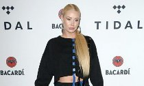 Iggy Azalea Flashes Bra in Totally Sheer Top, Receives a Rose on Valentine's Day